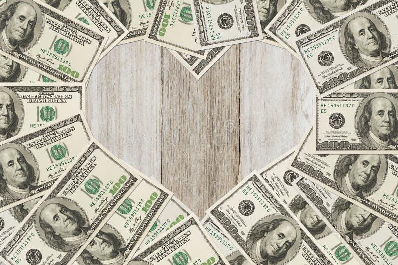 De liefde van geld stock foto's