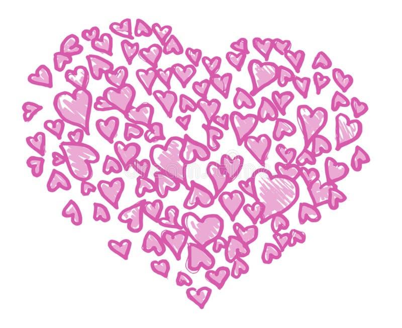 De liefde van het hart stock illustratie