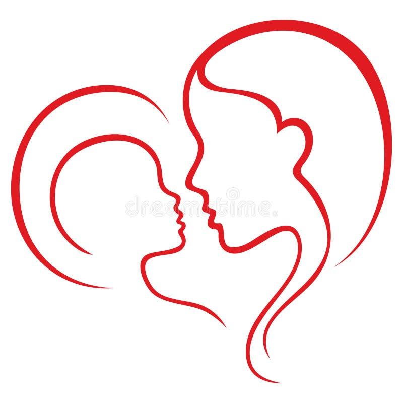 De liefde van het moederschap stock illustratie