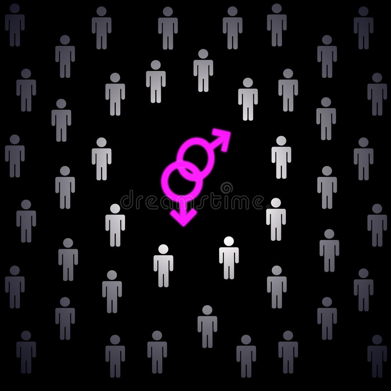 De liefde van Homo stock illustratie