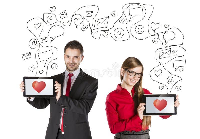 De liefde van Internet stock foto's