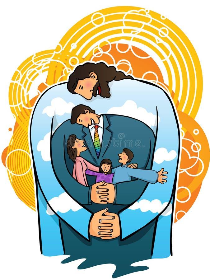 De liefde van Jesus mijn familie (vector) stock illustratie