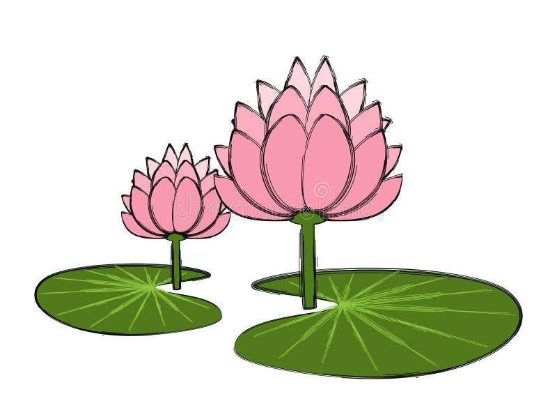 De liefde van Lotus stock illustratie