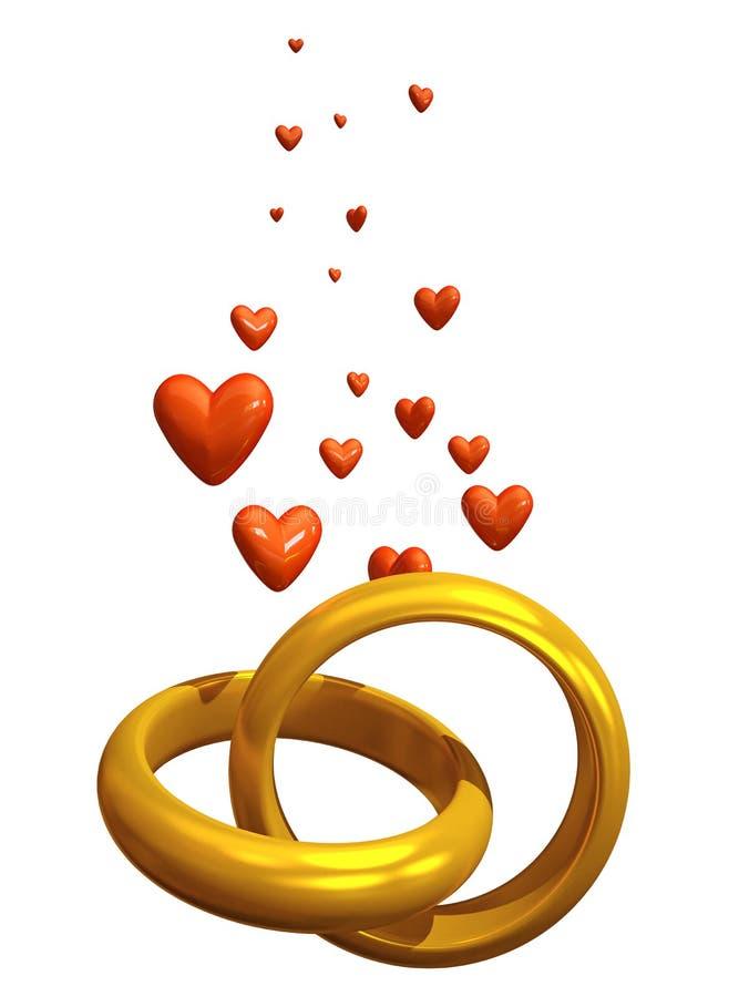 De liefde van ringen vector illustratie