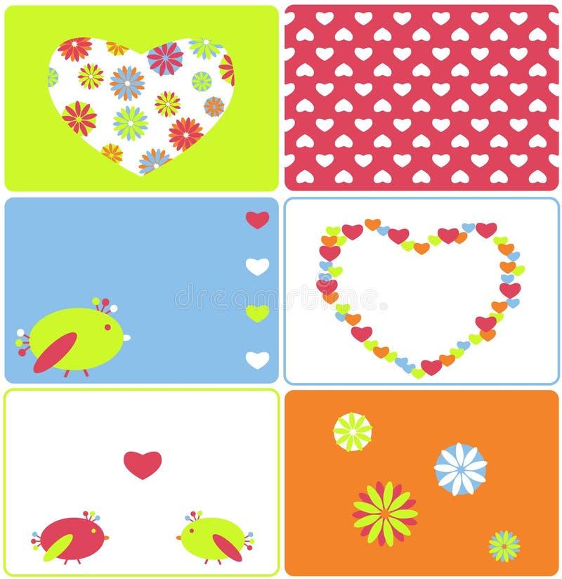 De liefde van vogels vector illustratie