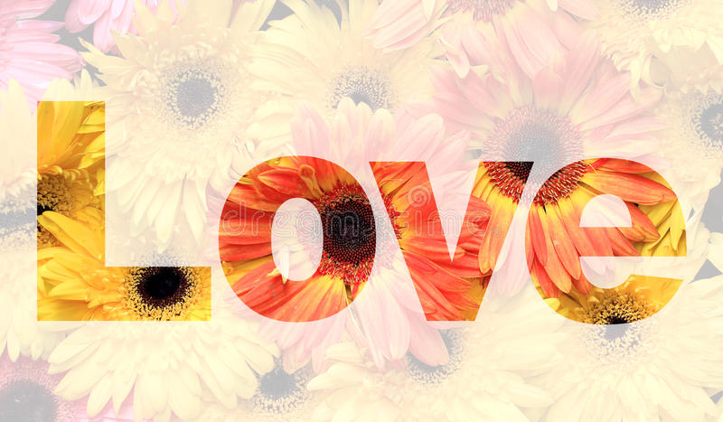 De liefde van Word stock afbeeldingen