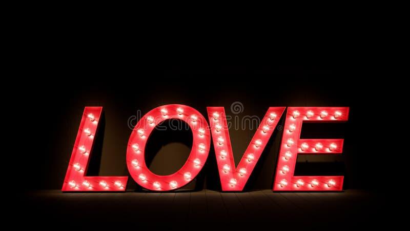 De liefde voor de dag van Valentine ` s/3D geeft beeld terug stock afbeelding