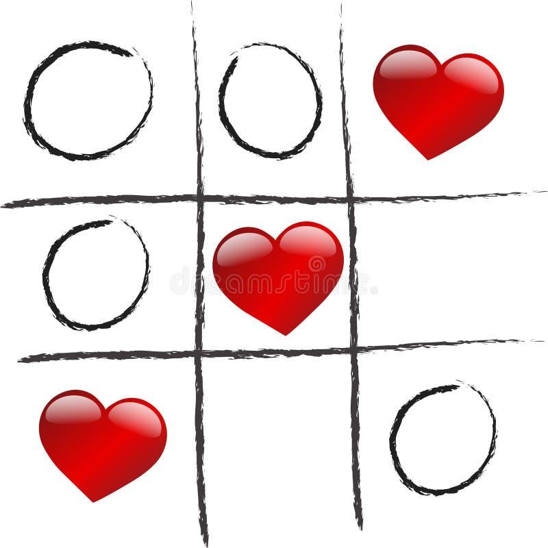 De liefde wint spel vector illustratie