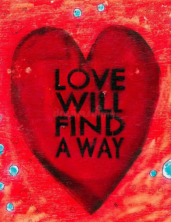 De liefde zal een Manierteken vinden stock afbeeldingen