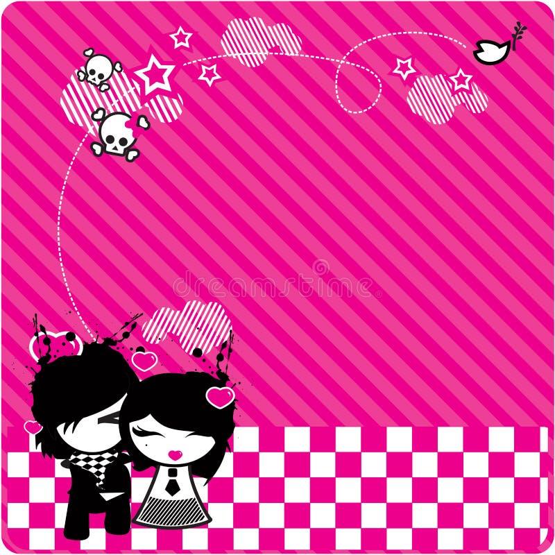 De liefdeAchtergrond van Emo stock illustratie