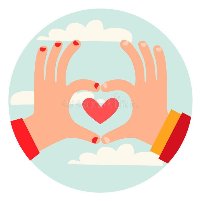 De liefde is in de lucht! royalty-vrije illustratie