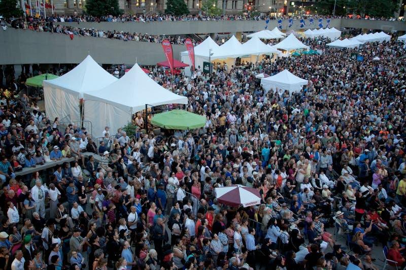 De liefdes Toronto Jazz Fest van Toronto stock foto's