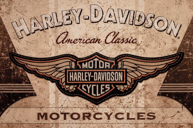 DE LIER, holandie - LISTOPAD 1 2017: Harley Davidson amerykanin zdjęcie stock