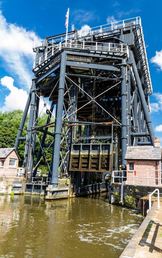 De Lift van de Andertonboot, kanaalroltrap stock foto