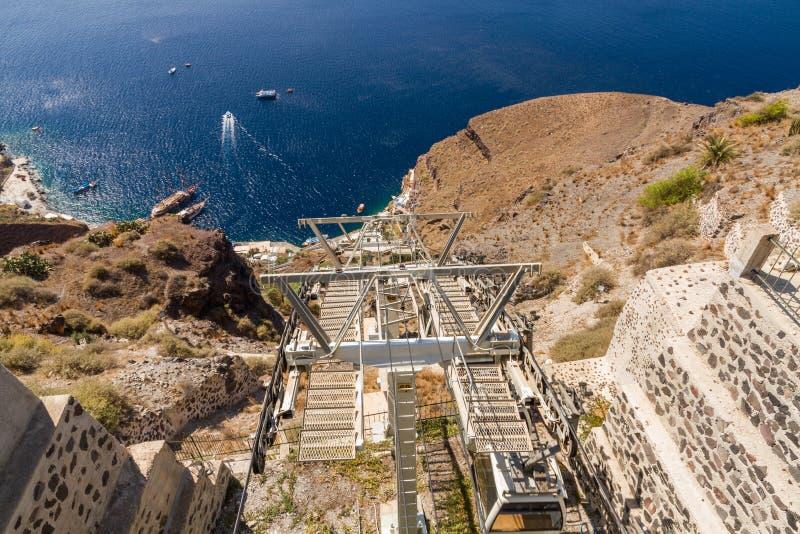 De lift van de Santorinistoel stock foto's
