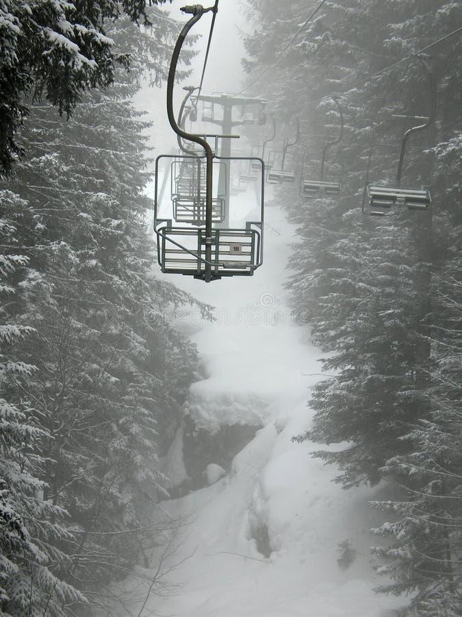 De lift van de stoel stock fotografie