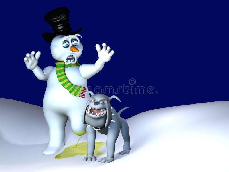 De Lift van het Been van de hond - de Smelting van de Sneeuwman royalty-vrije illustratie