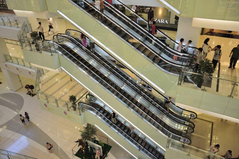 De Lift van het Winkelcomplex van Peking stock foto