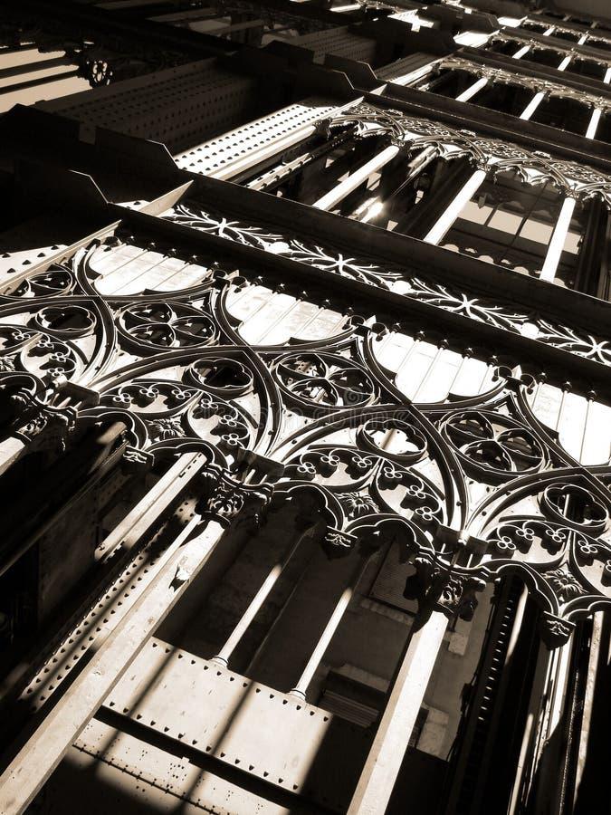 De Lift van Justa van de kerstman royalty-vrije stock afbeeldingen
