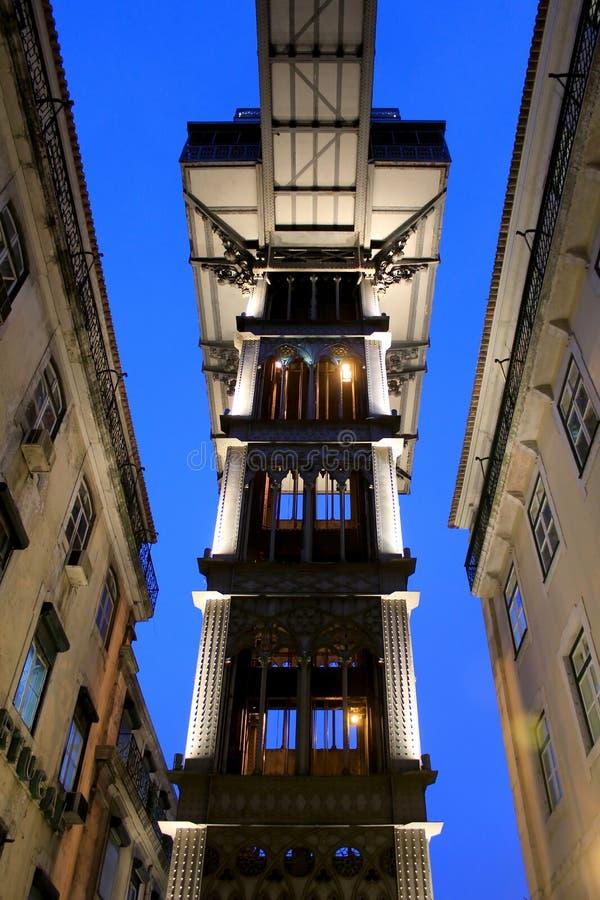 De Lift van Justa van de kerstman, Lissabon royalty-vrije stock foto