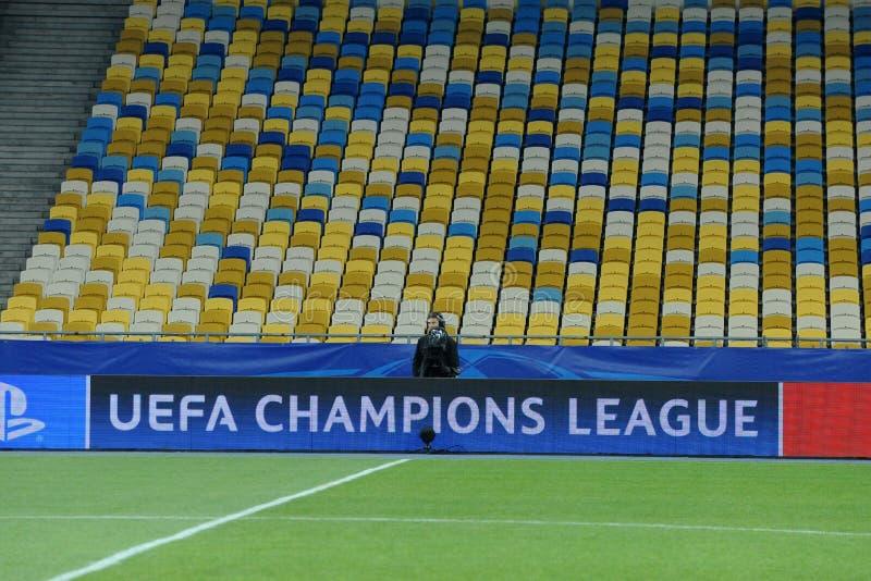 De Liga lege zetels van UEFA Champions' royalty-vrije stock foto's