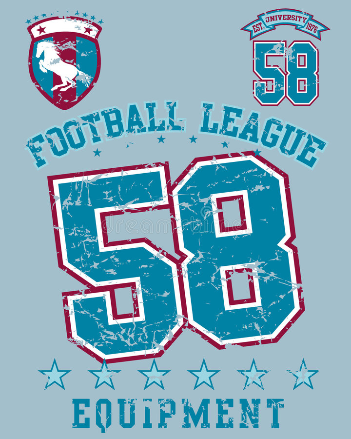 De liga van de voetbal royalty-vrije illustratie