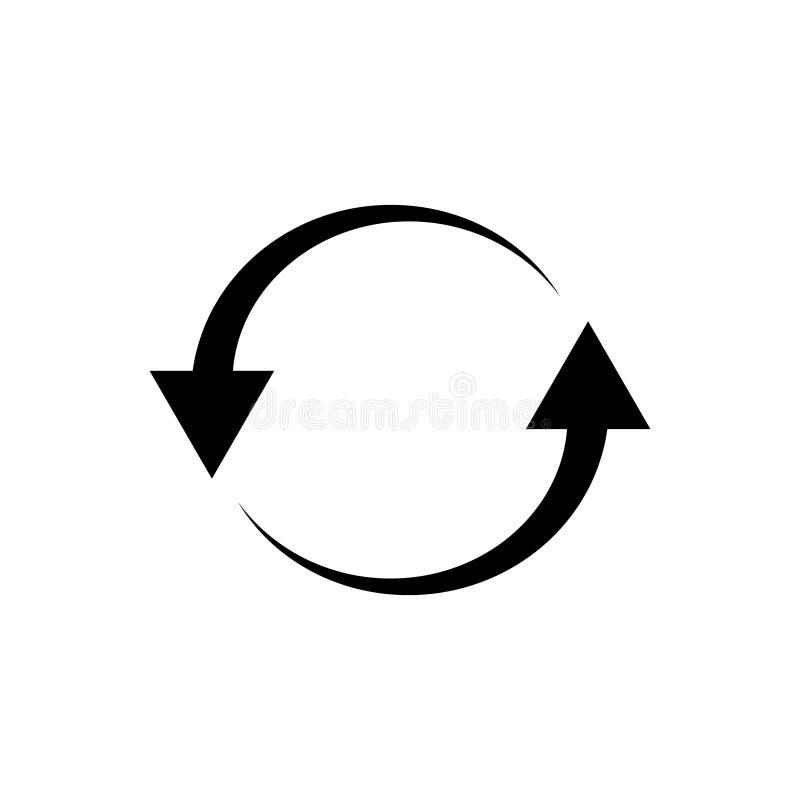 De lijn herhaalt de vector van het herladenpictogram voor grafisch ontwerp, embleem, website, sociale media, mobiele toepassing,  stock illustratie