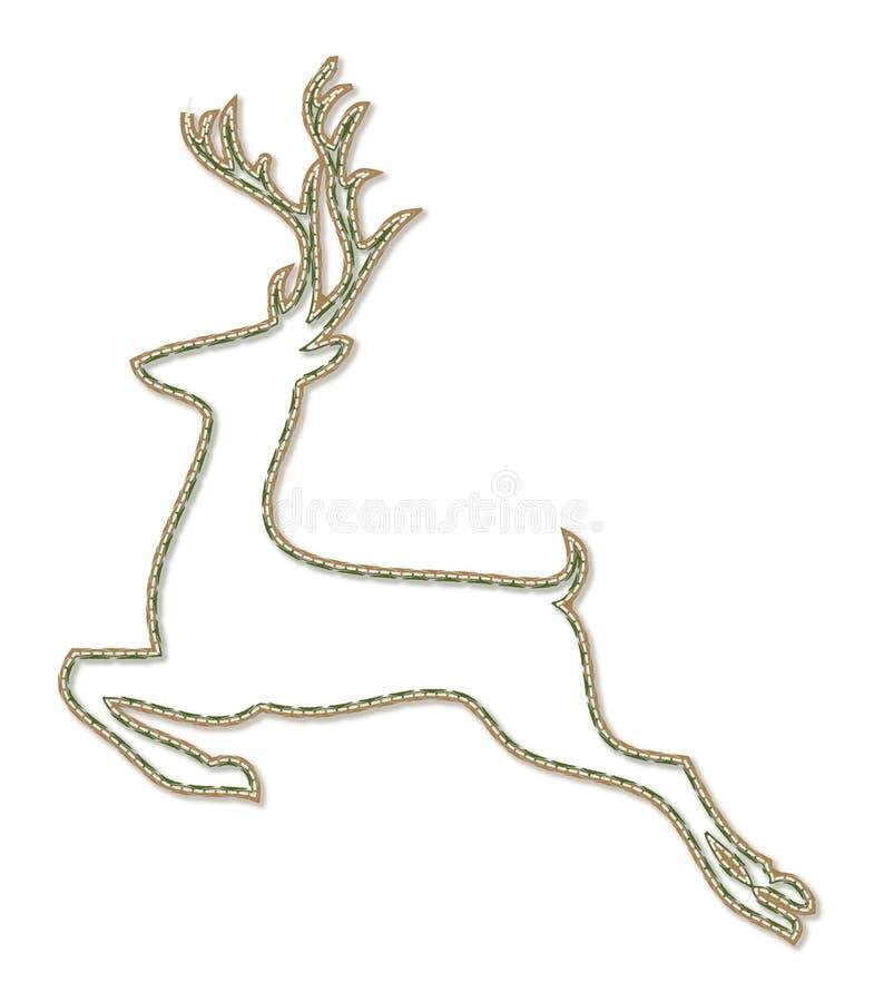 De lijn-kunst van Kerstmisherten sytle pictogram vector illustratie