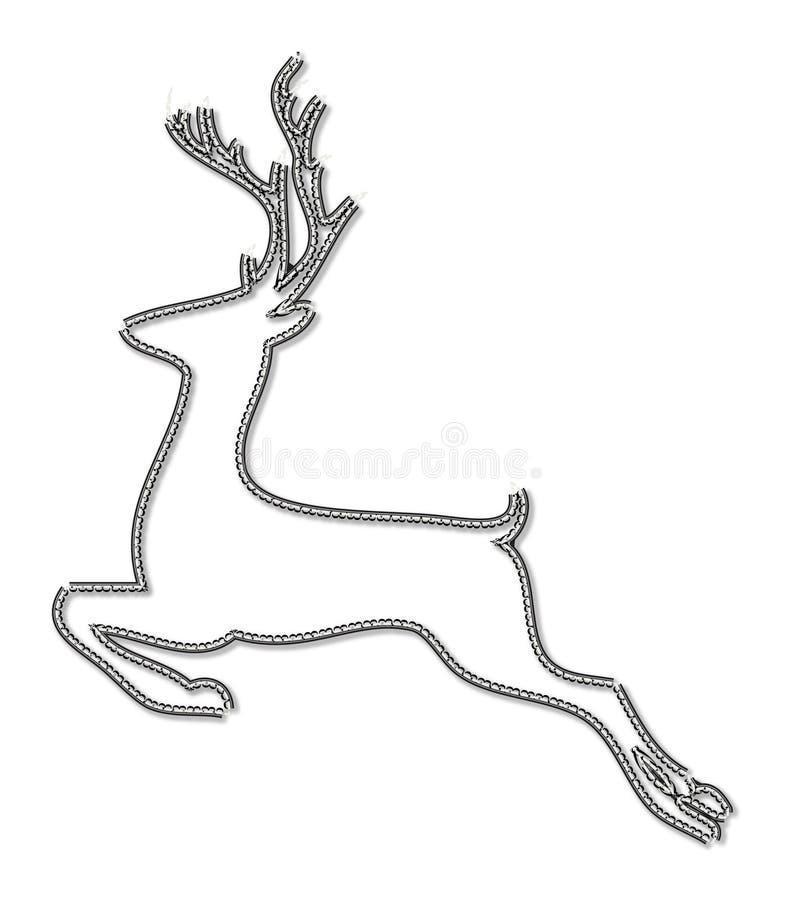 De lijn-kunst van Kerstmisherten sytle pictogram stock illustratie