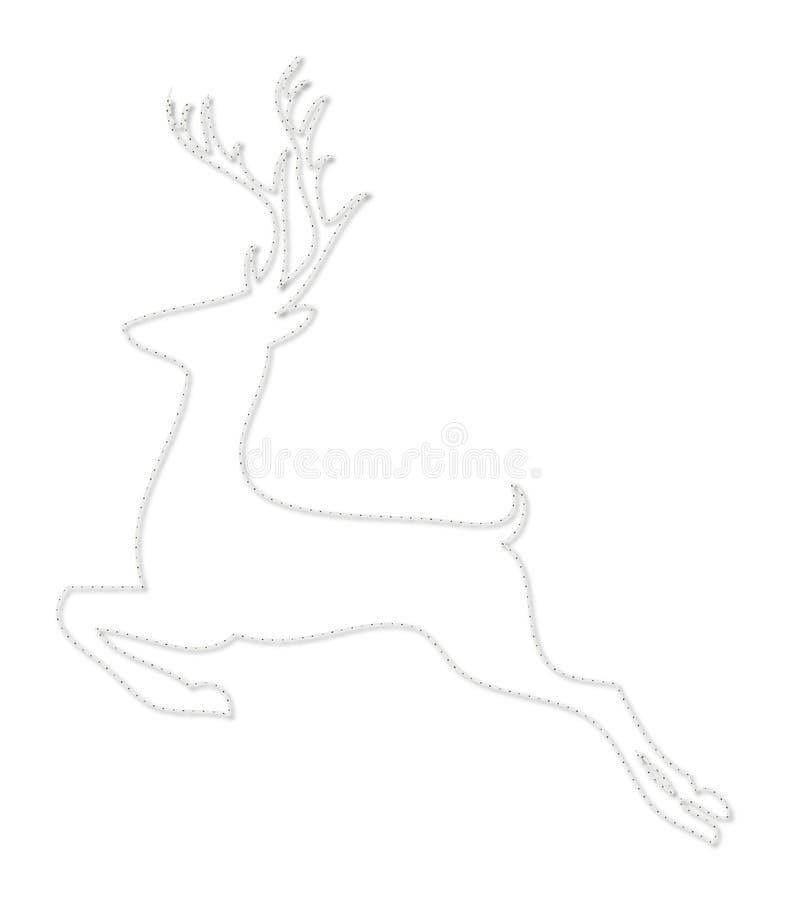 De lijn-kunst van Kerstmisherten sytle pictogram royalty-vrije illustratie