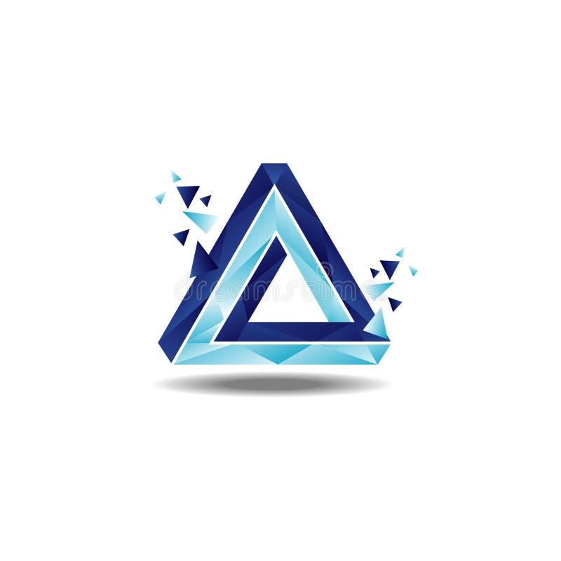 De Lijn Logo Sign Symbol Icon van driehoekspenrose stock illustratie