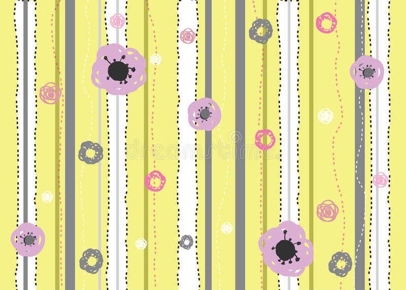 De lijn van de bloem vector illustratie