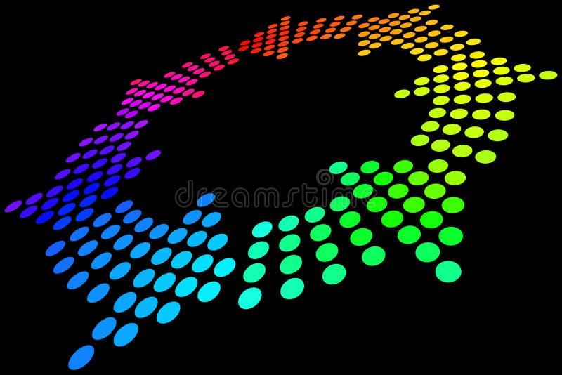 De Lijn van de regenboog royalty-vrije illustratie