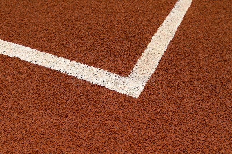 De lijn van de tennisbaan stock foto's