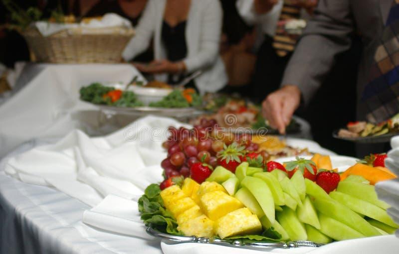 De lijn van het buffet stock afbeeldingen