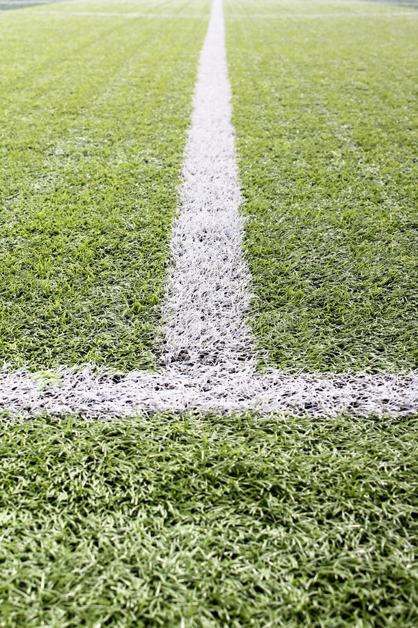 De lijn van het voetbalgebied stock afbeelding