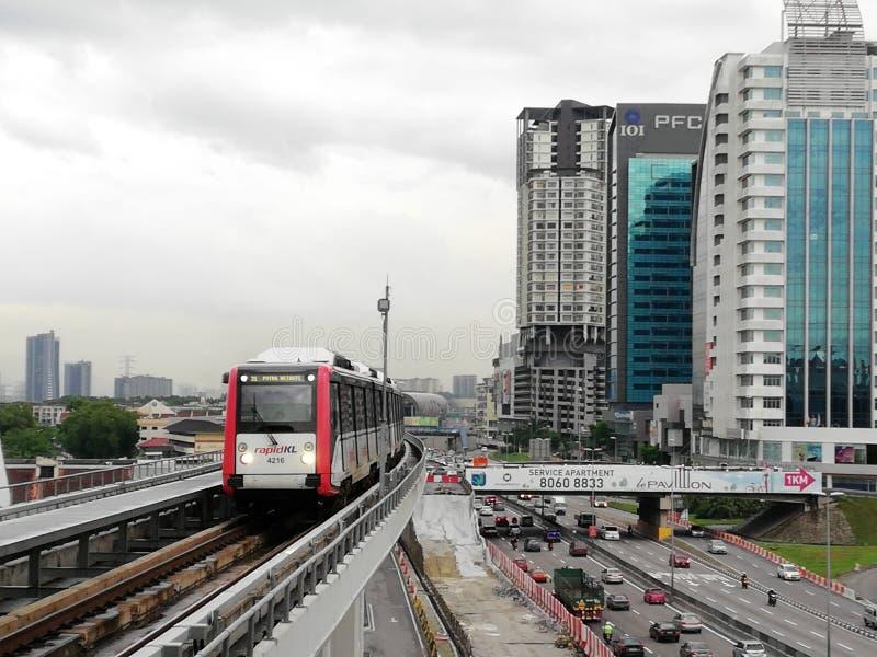 De Lijn van Maleisië LRT Ampang stock afbeelding