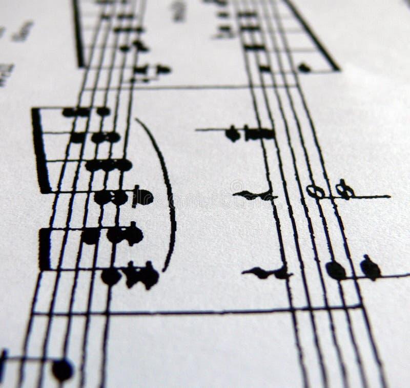 De lijn van nota's stock afbeeldingen