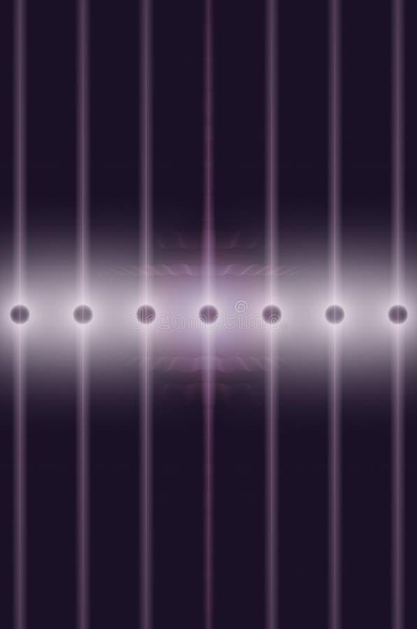 De lijn van de stroomtransmissie, energienetwerkachtergrond, futuristische transmissie van informatie via licht stock illustratie