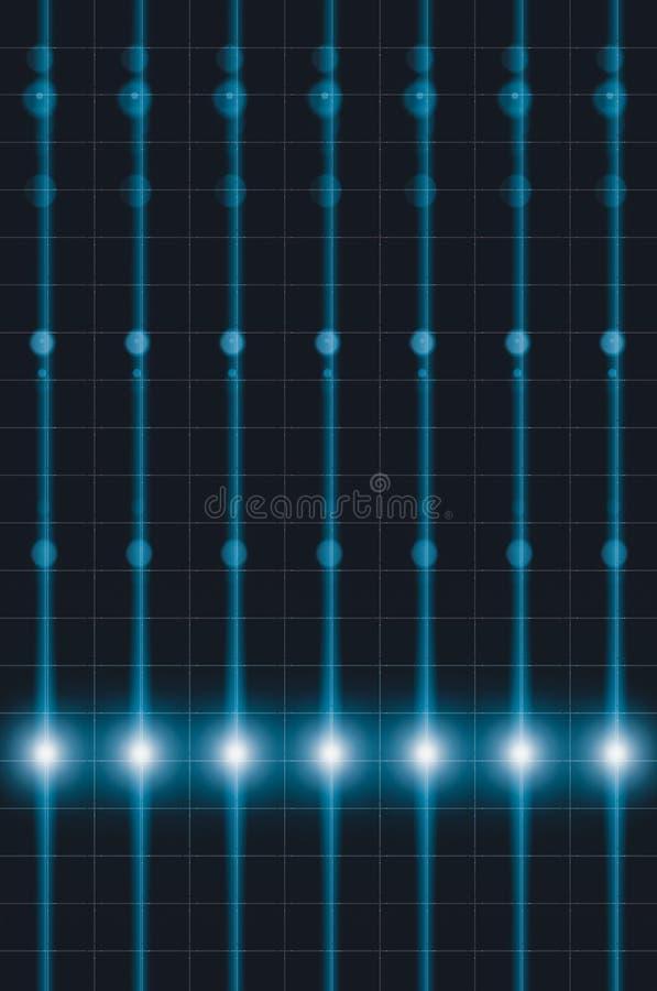 De lijn van de stroomtransmissie, energienetwerkachtergrond, futuristische transmissie van informatie via licht vector illustratie