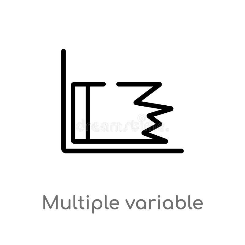de lijn vectorpictogram van het overzichts veelvoudig veranderlijk punt r vector illustratie