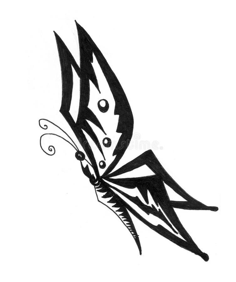 De lijnart. van de vlinder vector illustratie