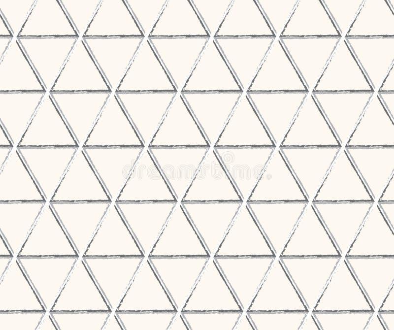 De lijnen naadloos patroon van de driehoekstechnologie royalty-vrije illustratie