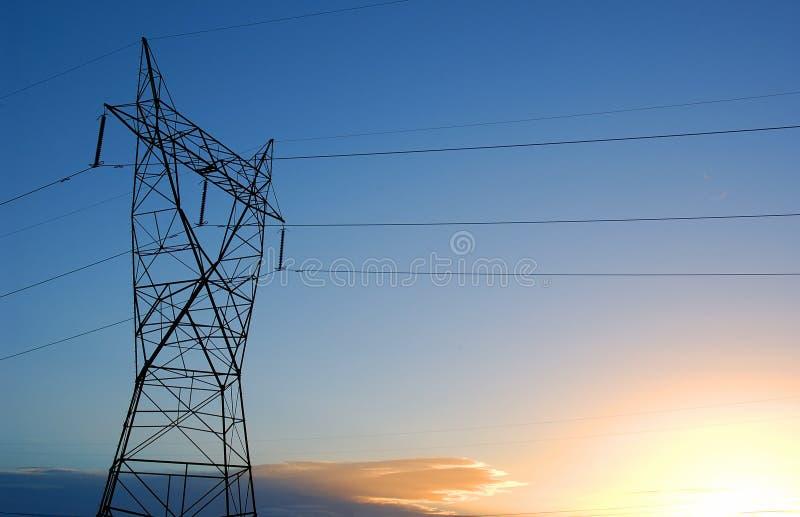 De lijnen van de macht stock fotografie