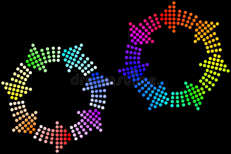 De Lijnen van de regenboog stock illustratie