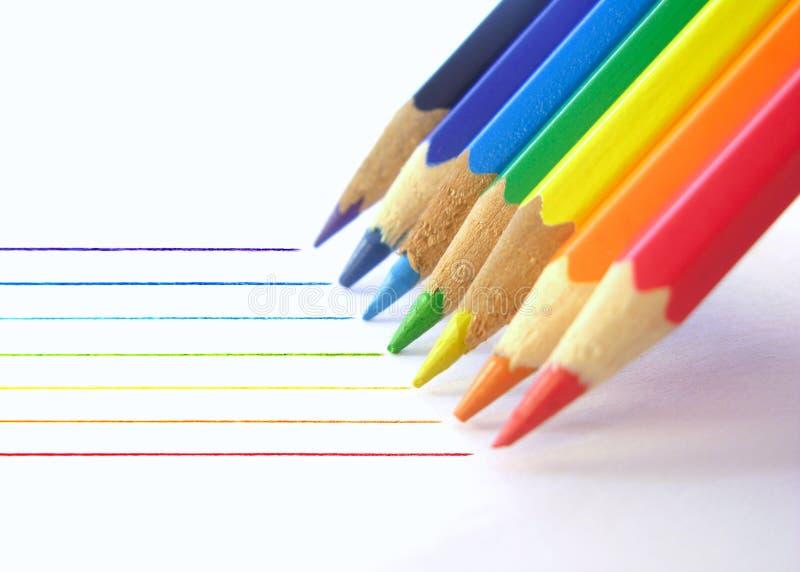 De lijnen van het potlood stock fotografie