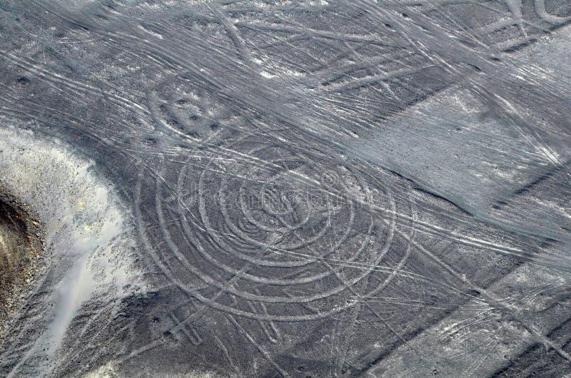 De Lijnen van Nazca - Spiraal - LuchtMening royalty-vrije stock fotografie