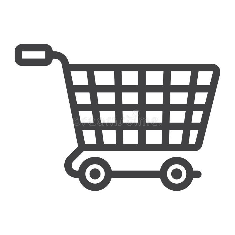 De lijnpictogram, seo en ontwikkeling van elektronische handeloplossingen royalty-vrije illustratie