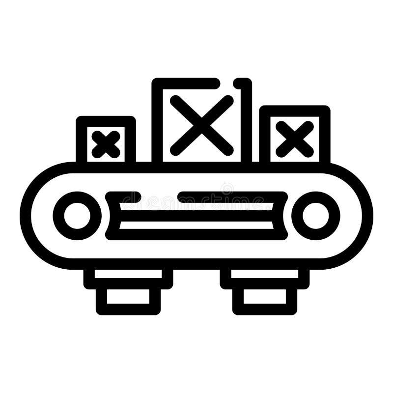De lijnpictogram van de assemblage houten doos, overzichtsstijl vector illustratie