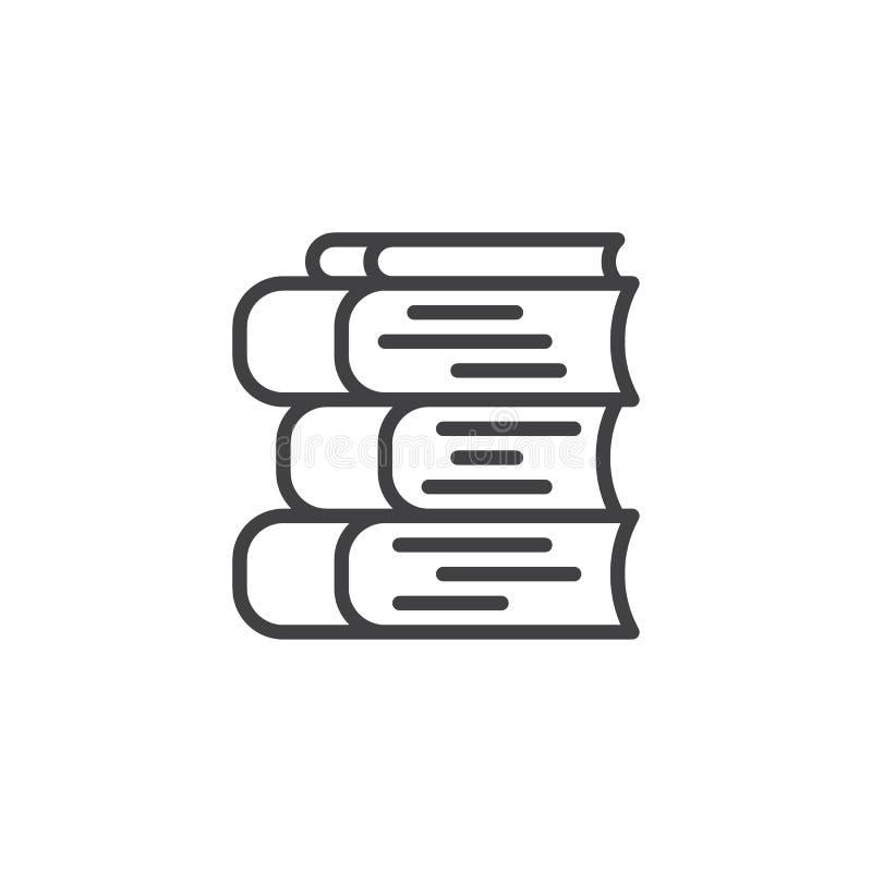 De lijnpictogram van de boekenstapel royalty-vrije illustratie